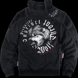 """""""Wolf Throat"""" szőrmés pulóver"""