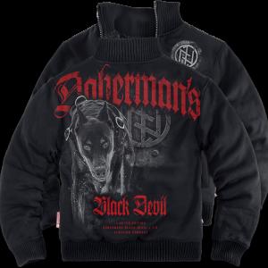 """""""Black Devil"""" szőrmés pulóver"""