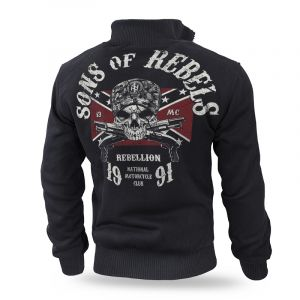 """""""Sons of Rebels"""" szőrmés pulóver"""
